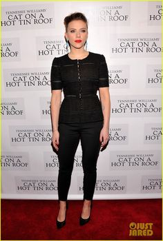 Scarlett Johansson: 'Cat on a Hot Tin Roof' Opening Party 1/18/2013