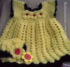 Handmade crocheted Frock and cap.  https://www.etsy.com/shop/CrochetAllHeadtoToe?page=1 https://www.facebook.com/pages/thetimtimaccessories/577535355685522?ref=bookmarks