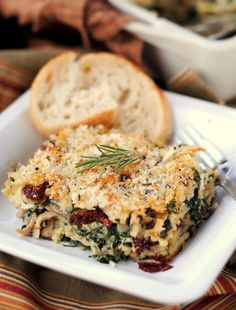 Chicken and Spinach with Cheese-Stuffed Ravioli Casserole