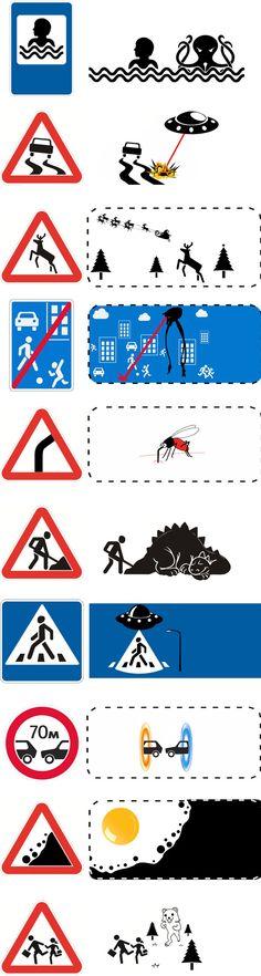 Découvrez le vrai sens sur les panneaux de signalisation !