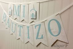 Baptism Banners/Bautismo/Baptism Banner/Mi Bautizo/Party Banners/Party Decor #madebyseller #BaptismChristening