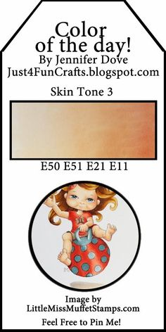 Copic Color Combos: Skin Tone by Jennifer Dove