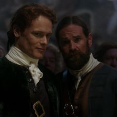 """Jamie Fraser (Sam Heughan) and Murtagh (Duncan LaCroix) in Season Two of Outlander on Starz, Episode Two """"Not In Scotland Anymore"""" via https://outlander-online.com/2016/04/16/1550-uhq-1080p-screencaps-of-episode-2x02-of-outlander-not-in-scotland-anymore/"""