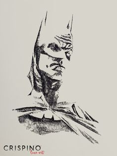Remake of Alex Ross' Batman - Handmade portrait with the single lines technique.  Please find more on www.CrispinoLineArt.com or www.etsy.com/shop/CrispinoLineArt