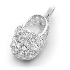 To add elegance and sheen the baby shoe charm can be accentuated with crystals, birthstones and diamonds of various colors.