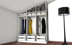 Begehbarer Kleiderschrank unter Dachschräge
