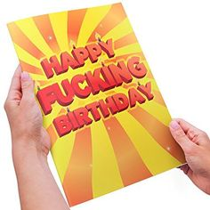 Adult Humor Birthday Card  XL Size  Happy Fucking Birthday Youre Old ** Check this awesome product by going to the link at the image.-It is an affiliate link to Amazon.