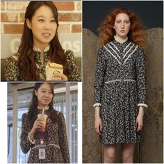 Gong Hyo Jin wore Orla Kiely Dress from Resort 2017 collection in Jealousy Incarnate Drama episode 11 Photo credit to owner #gonghyojin#fashion#orlakiely#dress#resort2017#kdrama#kdramafashion#gonghyojinstyle#jealousyincarnate