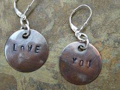 Love You Earrings Fleur De Lys Fleur De Lis by LadearJewellery