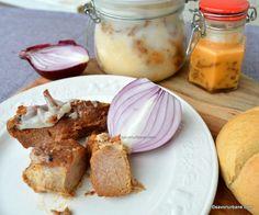 Carne la garniță - rețeta de friptură în untură la borcan | Savori Urbane Carne, Camembert Cheese, Dairy, Yummy Yummy, Food, Canning, Essen, Meals, Yemek