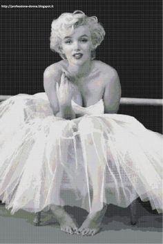 Professione Donna: Schema a punto croce: Marilyn Monroe_6