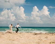 Emily and David's Gorgeous Beach wedding in  Cancun, Mexico. See more here: http://www.algawlikphotography.com