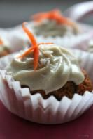 Raw Carrot Cupcakes with Cashew Cream Icing
