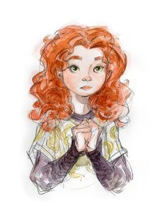 This Brave Concept Art Will Probably Change Your Fate Oh gosh she had green eyes! this is a sign