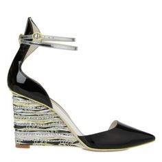 Sophia Webster Lexi pointed woven wedge pumps