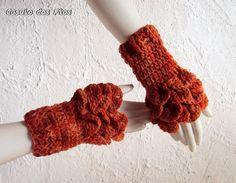 Par de luvas sem dedos (tipo polainas de mão)