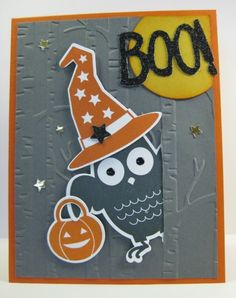 Peeking Halloween Owl Card