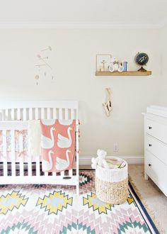 Baby Girl Nursery via BrittanyMakes.com