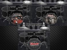 Sims 4 Updates: CatySix - Skills / Hobbies : Playable Drums V3, Custom Content Download!