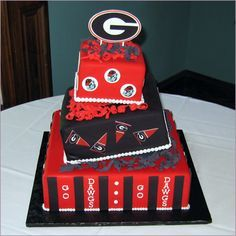 Cake Art Ga : Ga Bulldog Cakes on Pinterest Georgia Bulldogs, Groom ...