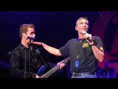 Jim Caviezel sings with rock band Chicago at NY Concert - Aug. 18, 2012