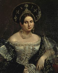 Lady-in-waiting Anna Okulova by Orlov, 1837