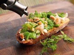 Fava Bean Tartine With Goat Cheese and Marcona Almonds
