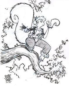 Squirrel Girl by Skottie Young