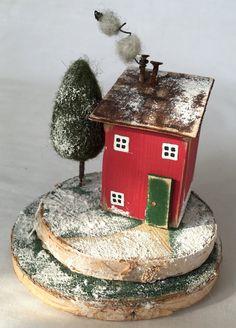 Weihnachtshaus handgemachte Weihnachten Winter von TildysRoom