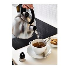 IKEA - VATTENTÄT, Kettle, Whistle function when water boils.Made from stainless steel, which is durable and easy to clean.