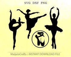 Ballerina in formato svg SVG ginnastica ginnastica svg file DXF balletto in formato Svg, file di progetto di vinile per sagoma, balletto tagliare file Cricut download