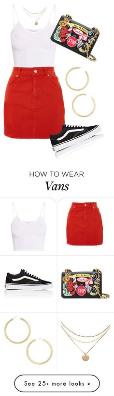 """#463"" by valeriecardozos on Polyvore featuring BasicGrey, Topshop, Vans, BaubleBar and Moschino"