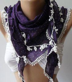 Purple  Elegance Shawl / Scarf by womann on Etsy, $18.50