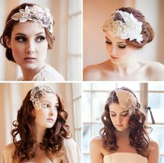 Vintage Bridal Headband Inspiration