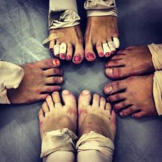 Ballet feet. People make fun of ballet because of it's gracefulness; they don't see they sacrifice beneath the shoe.