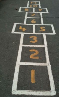 Loved playing hopscotch!