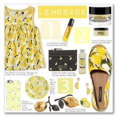 """""""Lemonade and shade with my feet up"""" by rivlyb ❤ liked on Polyvore featuring Dolce&Gabbana, Michael Aram, Marc by Marc Jacobs, Tea Collection, Casetify, MANGO, Pier 1 Imports, philosophy and I'm Fabulous"""