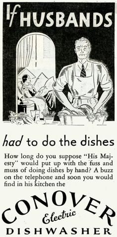 Conover Electric Dishwasher, 1931;   I didn't know they HAD electric dishwashers in the 1930's