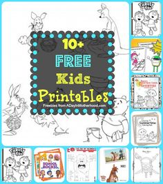 Free Kids Printables #kids #mibblio #crafts