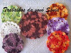 Trabalhos da vovó Sônia: Porta-copos (descanso para copos) Duna multicolori...