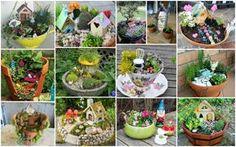 Los jardines de hadas son paisajes en miniatura con plantas diminutas, árboles, senderos, casas, etc. Se parecen por igual están viviendo algunas diminutas