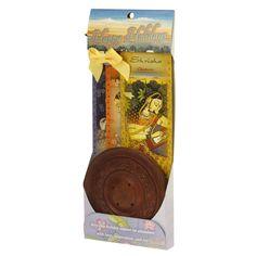 Incense Gift Set - Wood Round Burner + 3 Meditation Incense Sticks Packs & Holiday Greeting