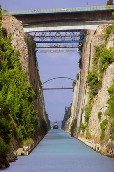 GREECE CHANNEL   I bungee jumped from there ahhhh! Corinth Canal, Peloponnese