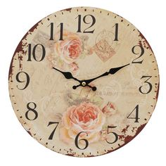 shabby chic, flower clock
