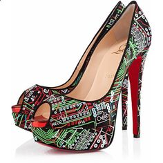 Love the internet? Then you need these amazing new Christian Louboutin heels! They have tiny circuit boards on them made of embroidery floss and sequins. Totally OTT? Yup! Also the best ever? Ditto!