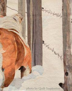 """Maynard"" by David Taylor (Steamboat Springs, Colorado). 2014 Road to California, closeup photo by Quilt Inspiration."