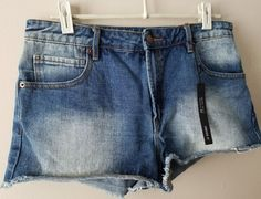 NWT Forever 21 High Rise Denim Shorts 30 Summer Vacation Medium Blue  #FOREVER21 #CasualShorts