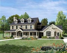 Cape Cod   Colonial   Country   Farmhouse  House Plan 95822 - LOVE, but wish Master was on 1st floor