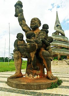 Family Monument in Yaounde, Cameroon