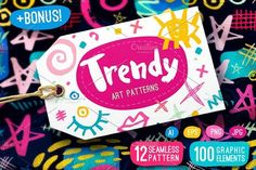 Trendy Art Patterns by ELALA on @creativemarket